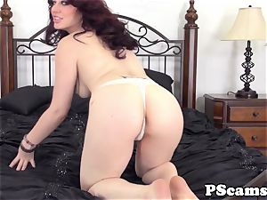 Jessica Ryans butt splattered with jizz on cam