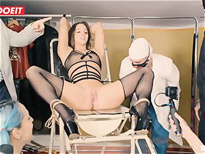 LETSDOEIT - Amirah Is manhandled at her very first domination & submission party