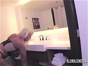thick jug ash-blonde Alura Jenson plowing a nervous customer