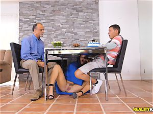 super hot graduateKeisha Grey secret fuck-stick deepthroat under the table
