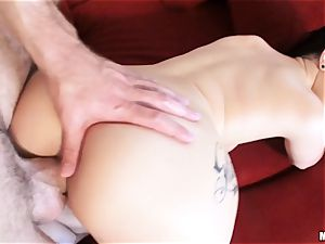 newly wed Katrina Jade is oiled up and plumbed by her fresh husband