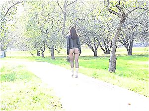 Jeny Smith tights demonstrate in public