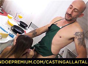 casting ALLA ITALIANA - torrid Italian minx gets deep buttfuck