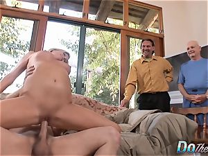 cougar deep-throats & pounds a man While cheating watches