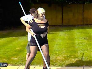 AgedLovE Lacey Starr boning Poolboy hard-core