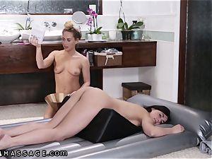 lesbos scissoring in Nuru massage Gel