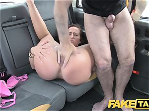 fake taxi nymph in pinkish underwear gets creampied