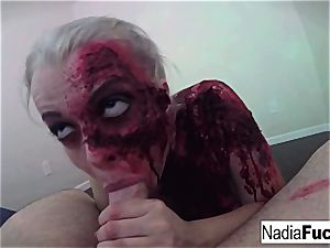 mischievous zombie gets her cram of meatpipe and jism