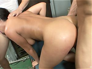 marvelous brown-haired with gigantic cupcakes Charley chase