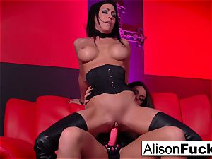 red room and crimson strap-on action