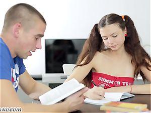 Undergraduate seduced by the tastey Russian female Alena