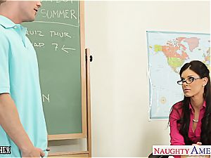 tiny titted teacher India Summer plow her teenage student
