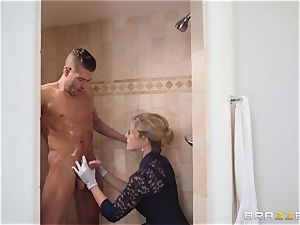 Cory chase pulverized in the douche