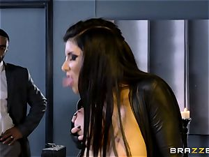 exclusive agent Romi Rain gets twat deep with the chief