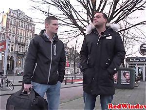ample Amsterdam escort cockriding tourist