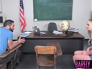 Teenie schoolgirl booty-fucked and facialized at detention
