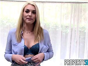 PropertySex platinum-blonde realtor tricked into lovemaking on camera