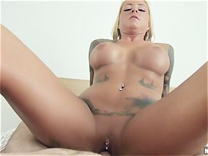 tatted bombshell Britney Shannon gets ravaged by her bf acquaintance