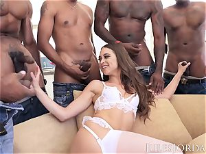 Jules Jordan - Riley Reid multiracial gang-bang