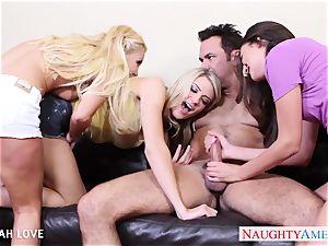 sumptuous Aaliyah enjoy banging in foursome