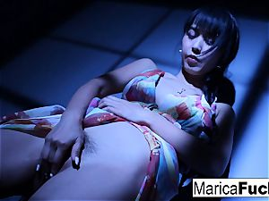 japanese sex industry star Marica gets naked