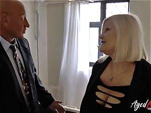 AgedLovE Mature damsel Lacey Starr throating hard penis