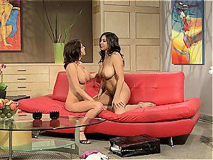 big-titted beotches Raylene & Veronica schlick ferociously