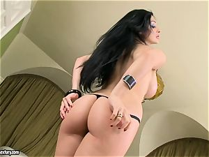 marvelous boobed Aletta Ocean unveils her fat breasts taunting everyone's attention