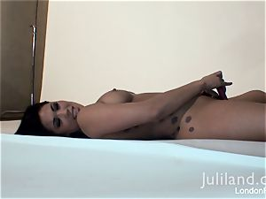 London Keyes frolicking with her dildo