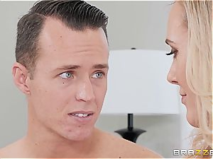 Lusty milf instructs her nasty stepson some respect