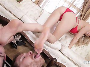 Headmistress Alexis Fawx dominates her humble servants