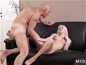 father ravage crony s sister and old grannie unshaved snatch insane light-haired wants to try