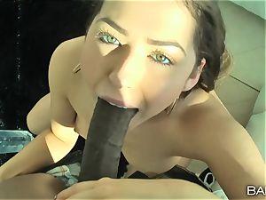 fuck-fest gauze interracial shag with Melissa Moore