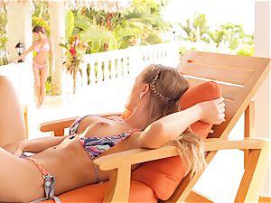 Madison Ivy and Nicole Aniston vulva fun in swimsuits