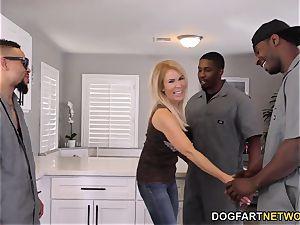 ass fucking mega-slut mummy Erica Lauren interracial gang-fuck