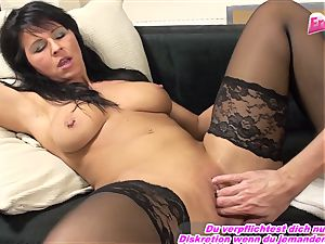 GERMAN milf going knuckle deep very first time full arm in gash