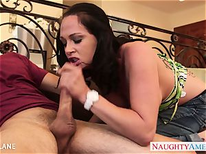 inked dark haired Tory Lane poking