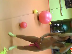 Sabrina ash-blonde light-haired dame wearing a rosy cord on