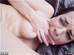 Dana DeArmond widely opened butt poked by James Deen