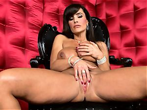 handsome Lisa Ann exposes her phat mouth-watering globes