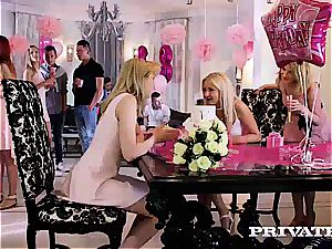 Anny Aurora and Alexis Crystal celebrate With an lovemaking