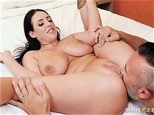 Angela white hammered in her ultra-cute lil' booty crevasse