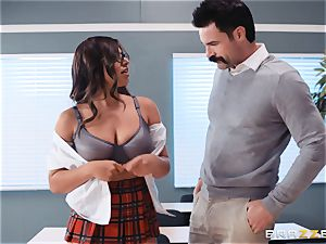 plunging that gigantic hard-on into Ella Knox in class